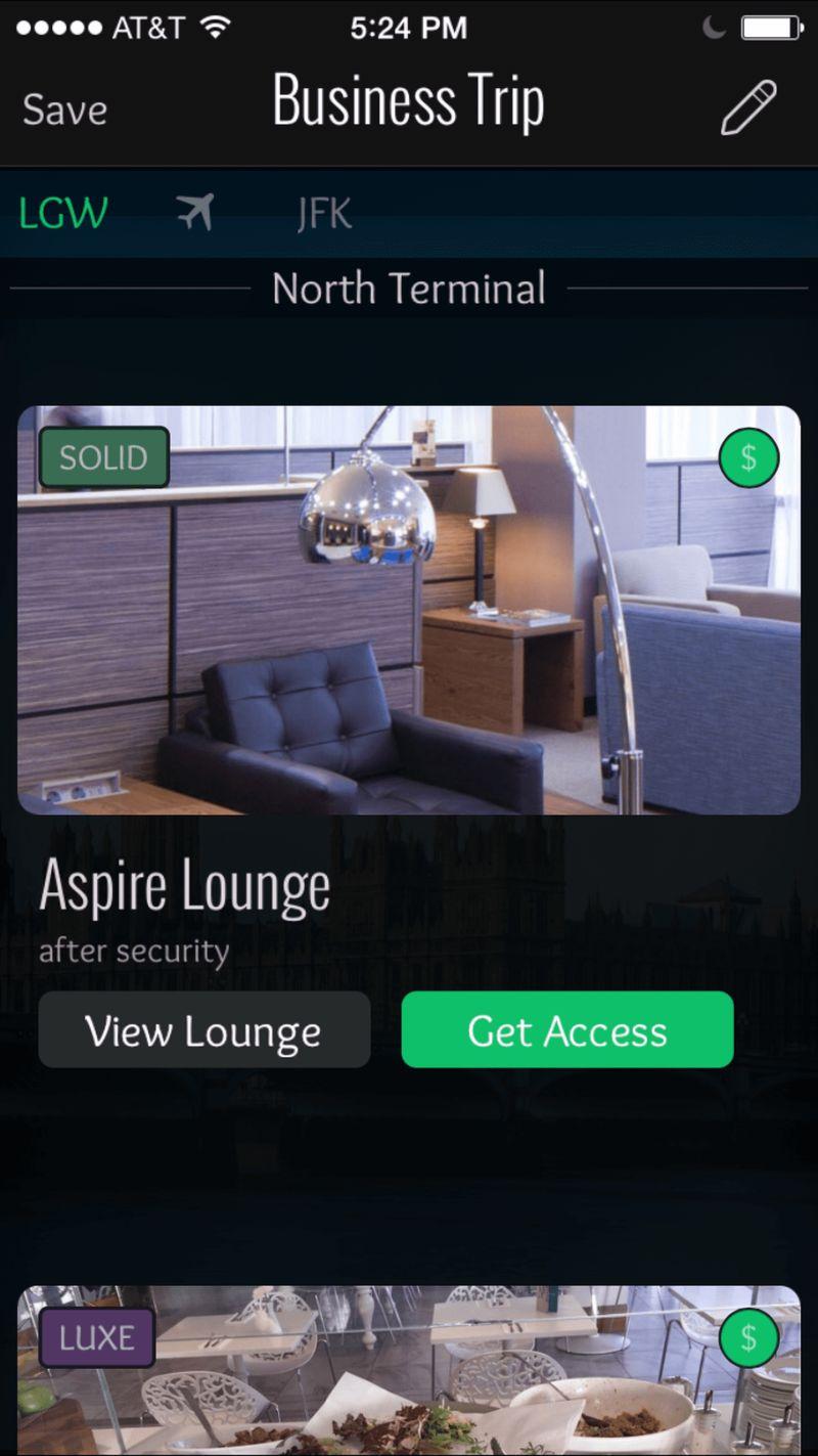 Imagen de un celular mostrando la app