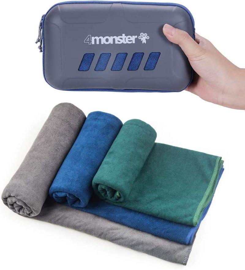 Foto de un juego de toallas para viajar